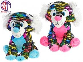 tygr star sparkle plysovy barevny 24cm sedici 2barvy 0m skladem