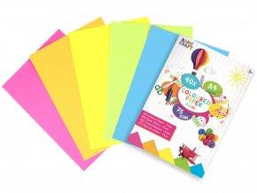 Sada barevných papírů neon A4 skladem