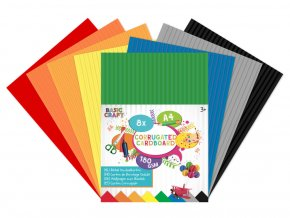 Sada barevných papírů vlnkovaté A4 skladem