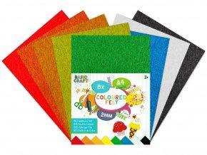 Sada barevných papírů plstěné A4 skladem