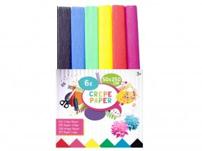 Sada krepových papírů 6 barev skladem