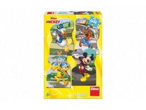 Puzzle Mickey ve městě 4x54 skladem