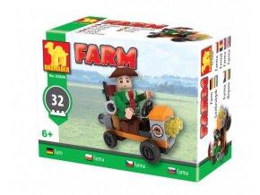 Stavebnice Dromader Traktor farma 92899 32ks v krabici 9x7x5cm