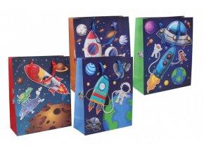 Dárková taška dětská vesmír mix barev skladem