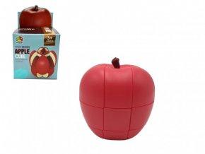 Hlavolam jablko plast v krabičce 8,5x8,5x14,5cm