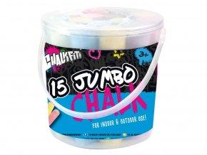 Křídy Jumbo v kyblíku 15 barev skladem