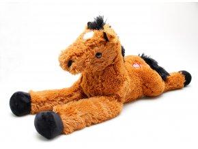 Plyšový kůň hnědý 80 cm skladem