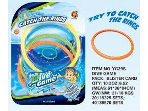Potápěcí kroužky skladem
