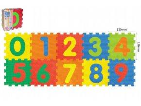 Pěnové puzzle Číslice 32x32x1cm 10ks v sáčku 10m+ skladem