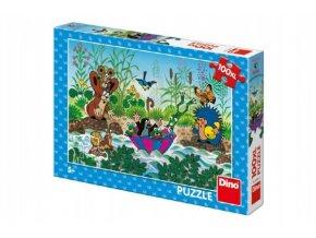 Puzzle Krtek Krtečkova plavba 47x33cm 100 dílků XL skladem