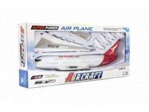 Letadlo plast 40cm na setrvačník na baterie se zvukem se světlem skladem