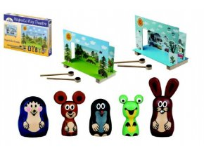 Divadlo Krtek magnetické dřevěné s figurkami v krabici skladem