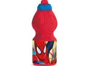 lahev na piti spiderman cerveny