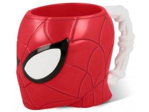 3D hrnek hlava spiderman
