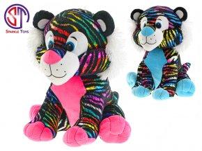 tygr star sparkle plysovy barevny 35cm sedici 2barvy 0m skladem