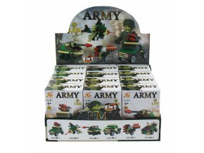 Army stavebnice s LED světlem