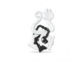 Kousátko s přívěskem černobílé skladem
