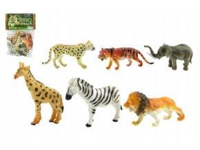 Zvířátka safari ZOO 6ks plast 10cm v sáčku skladem