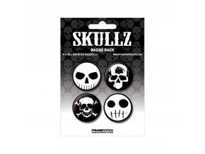 placka set skullz 4x38mm