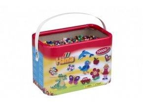 Zažehlovací korálky Hama 10.000ks v boxu mix 22 barev skladem