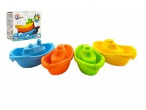 Lodě/lodičky do vody 4ks plast 11cm v krabičce 12x9,5x6cm 12m+