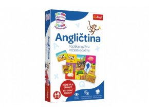 Malý objevitel Angličtina pro předškoláky společenská naučná hra v krabici 19x29x4cm