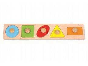 Vkládačka 5ks dřevo geometrické tvary skladem