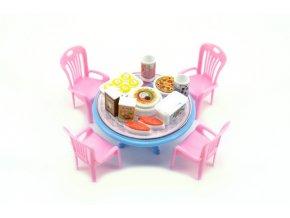 Stůl a židle s doplňky plast 12cm skladem