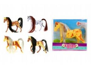 Kůň malý plast 10cm mix z 6 barev v krabičce