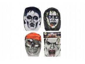 Maska látková mix z 4 druhy v sáčku 18x26cm   karneval