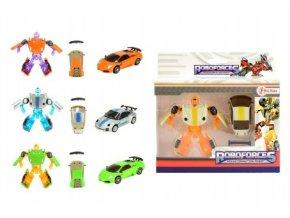 Transformer auto/robot mini plast/kov 8cm v krabičce