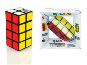 Rubikova kostka věž 2x2x4 hlavolam plast v krabičce 14x14x7cm