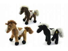Kůň plyš 26cm se zvukem asst 3 barvy