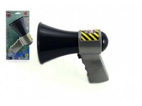 Megafon policie plast 14cm na kartě