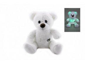 Medvídek svítící plyš 26cm na baterie