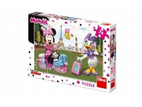 Puzzle Minnie v Paříži 24 dílků