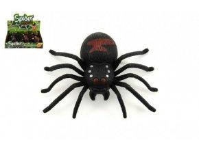 Pavouk na klíček plast 9cm asst 2 barvy (1 ks)