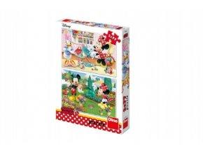 Puzzle Minnie 2x77 dílků 26x18cm v krabici
