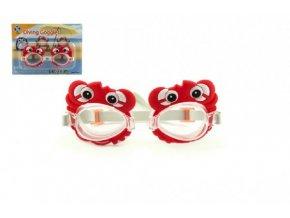 Plavecké brýle plast 14cm na kartě