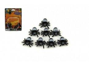 Pavouk mini plast 1,5cm 8ks na kartě