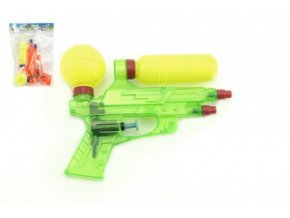 Vodní pistole plast 16cm mix z 2 barvy v sáčku