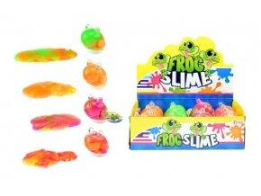 Sliz - hmota žába 130g 8cm asst 4 barvy v plastové dóze (1 ks)