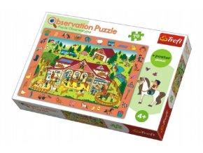 """Puzzle """"Hledání předmětů"""" farma 48x34cm 70dílků v krabici 33x23x6cm"""