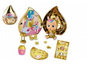 CRY BABIES Magické slzy plast panenka s domečkem a doplňky ve zlaté slzičce 12x15x12cm (1 ks)