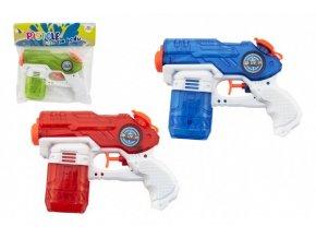 Vodní pistole plast 19cm 3 barvy v sáčku
