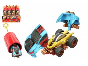 Auto Boom City Racers plast mix druhů v plastové tubě 21x6,5x6cm (1 ks)
