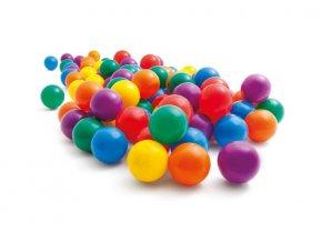 Míčky do suchého bazénku či hracích koutů - 8cm, 100ks v balení