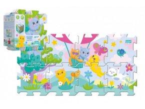 Pěnové puzzle 8ks Koťátka 32x32cm v sáčku 24m+