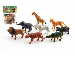 Zvířátka safari ZOO plast 8ks v sáčku 18x24x3cm