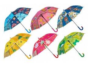 Deštník vystřelovací 66cm kov/plast mix barev skladem